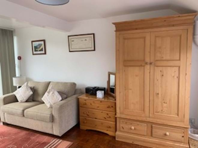 Excellent storage in the traditional wardrobes