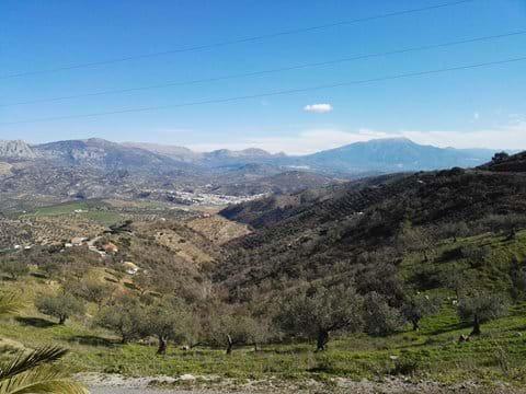 View of Riogordo from the top of Colmenar