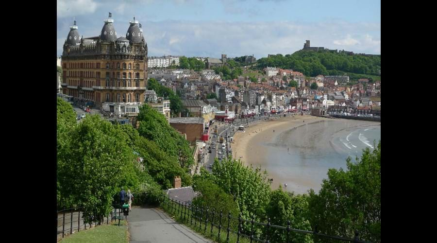 Stunning view of the Grand Hotel and South Bay, Scarborough - only 2 minutes from the house.