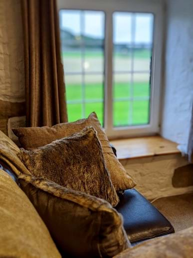 There is also a comfortable leather sofa in the master bedroom - great for a quiet read