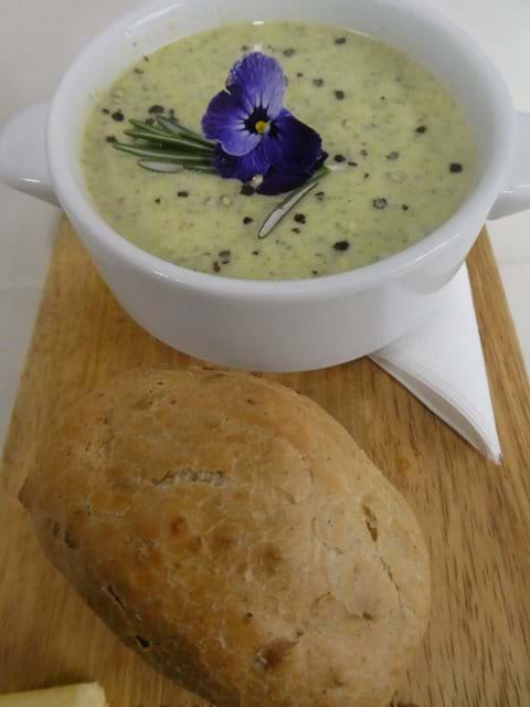 Soup-and-mini-loaf-at-the-george-inn-hubberholme