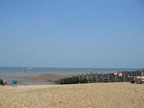 Whitstable beach on a summers day