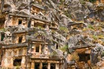 For history lovers pop into town to visit the Lycian ancient burial tombs at Myra