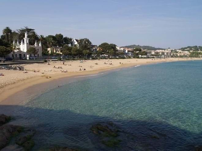 Sant Pol beach in front of apartment