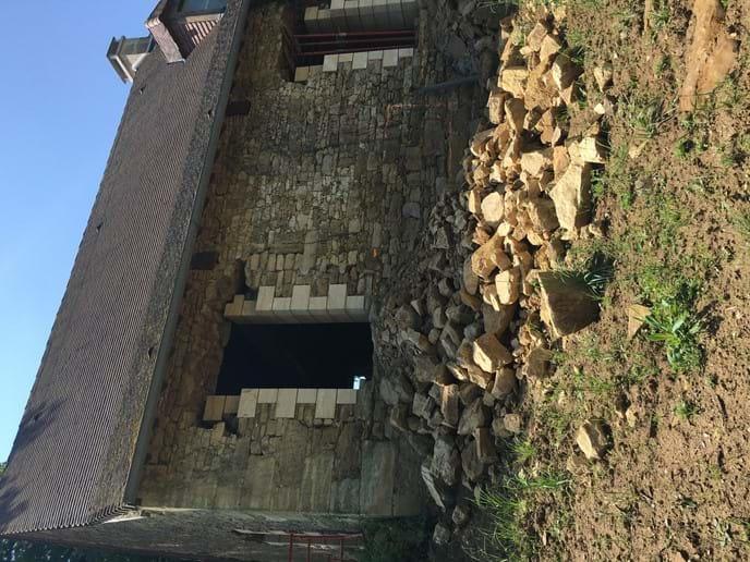 Walnut Barn - back french doors