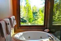 Spa tub in master bath