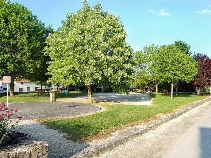 Village square and Pétanque area
