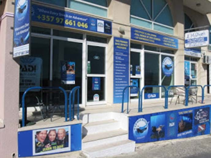 Go Diving at Diving Adventures in located in Pissouri Village.