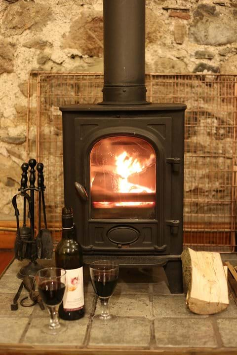 Goosepen Cottage log burner