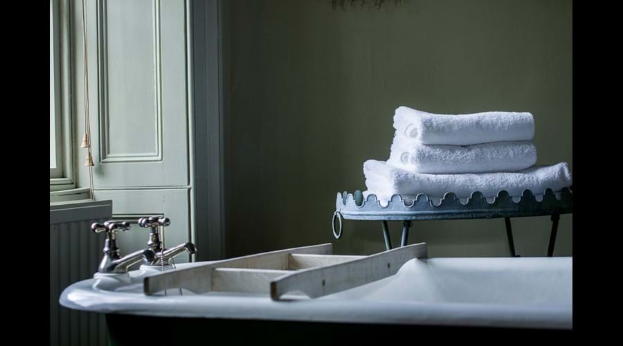 The Victorian roll-top bath in the first floor bathroom.
