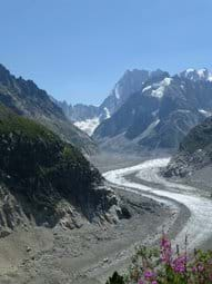 One of several Glaciers in Chamonix, the Mer de Glace