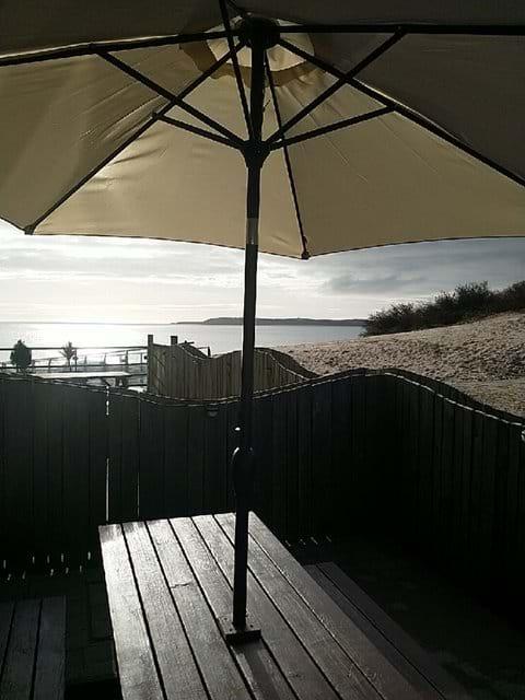 Winter sun on the terrace