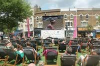 Watch the Tennis on a giant screen in Wimbledon Town Centre