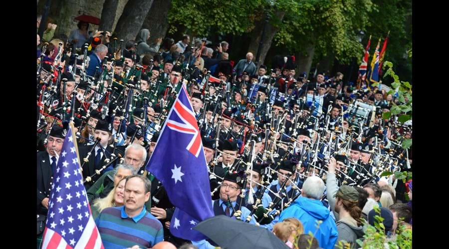 Nairn Highland Games opening march