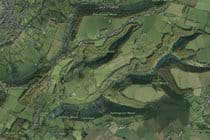 Aerial view of Slad Valley