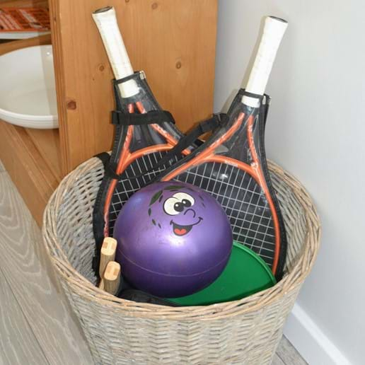 Basket of games equipment