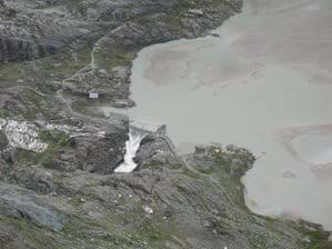 The end of a glacier