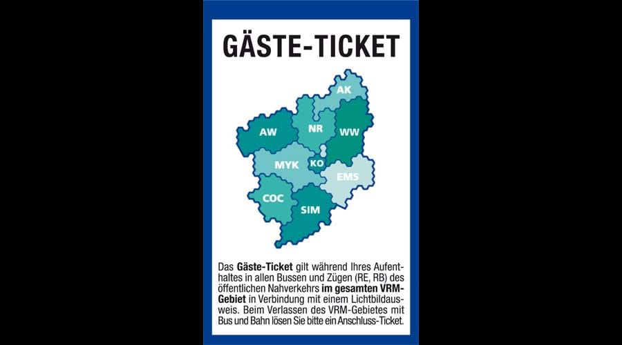 Our Complementary Gäste Ticket  - Why Not Leave Your Car With Us & Enjoy The Moselle Car Free !