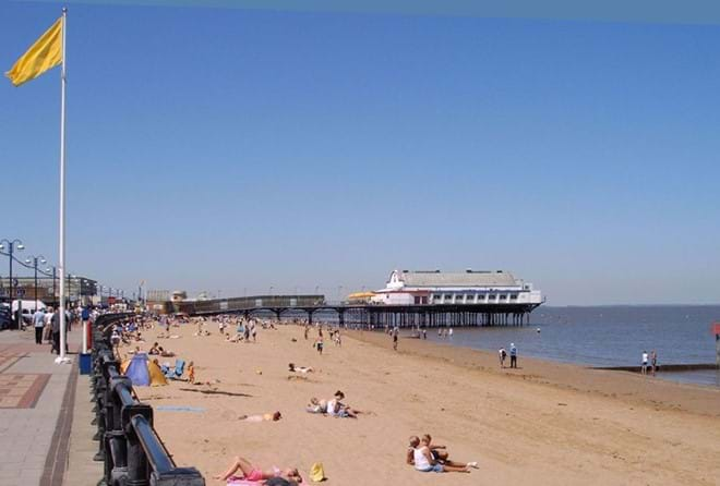 Cleethorpes Sea Front approx 18 miles from Muntjac