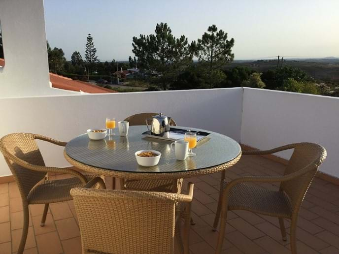 Private roof terrace, perfect for morning views and breakfast