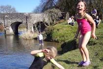 Playing in the River Barle at Withypool