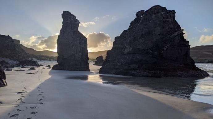 Stone Stacks at Garry Beach