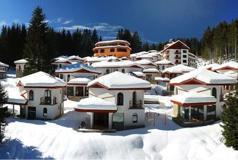 secluded ski chalet village in Pamporovo