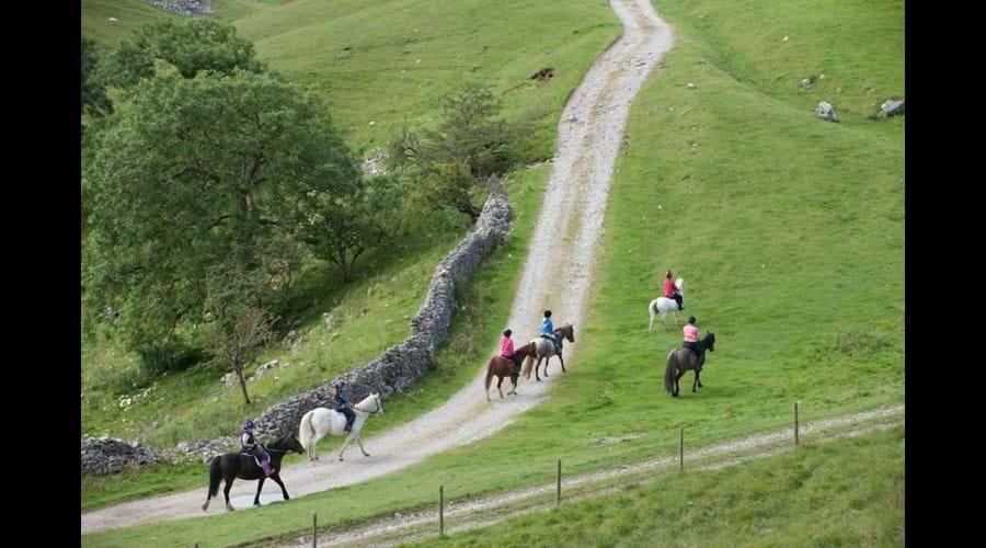 Horseriding at Kilnsey