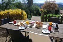 Breakfast on the terrace - Spring at La Cardabelle