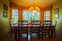 Family dining with lake views