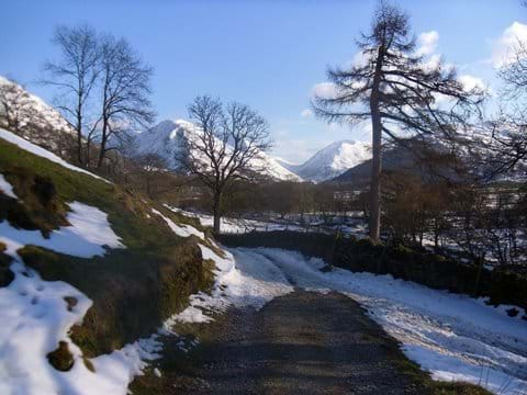 One of the many low level paths : Beckstones to Hartsop in winter