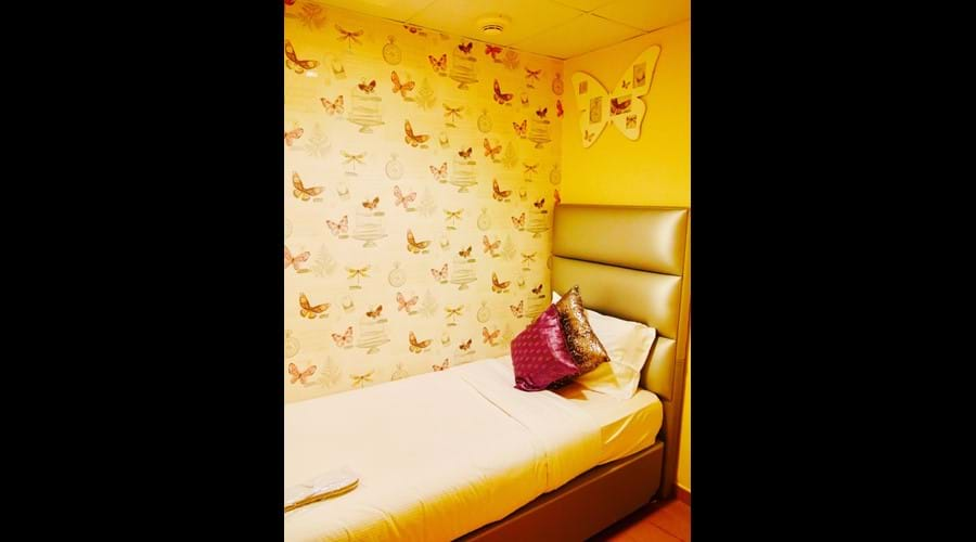 Bedroom 4 Maids room smaller , but nicely furnished with its own en-suite bathroom
