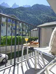 Enjoy the fresh alpine air from the rear balcony