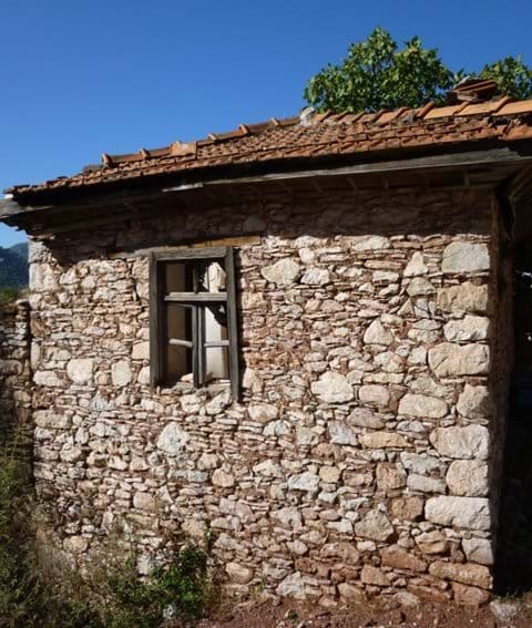 Old village stone house
