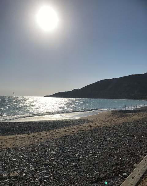 Pissouri Bay Beach in January.