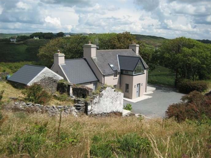 Crab Cottage from the track above the property. Superb self catering accommodation near Rosscarbery, West Cork