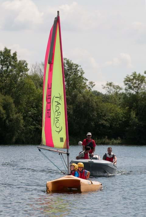 Sailing at the Cotswold Outdoor centre