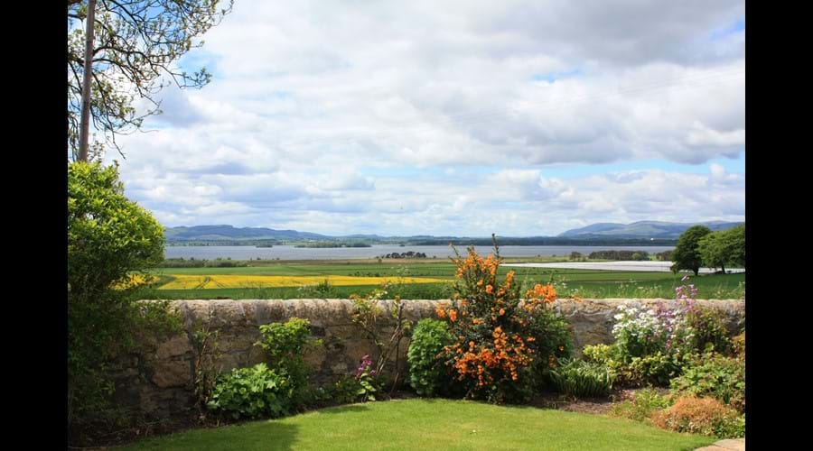The walled garden looking out towards Loch Leven.