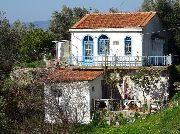 Feb 2017 - There are hundreds of private churches on Skopelos island, a most unusual tradition. This church on the road from Loutraki to Glossa is dedicated to Ag Riginos who is the island