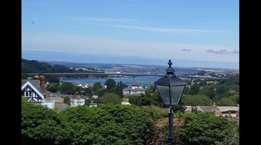 View of the high-rise Torridge Bridge from the Market Car Park