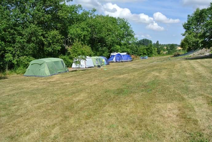 Campsite 11am 1 August 2016 - pitches 4, 5 and 6