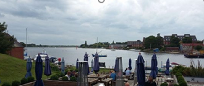 Taking in the view of Oulton Broad from The Commodore