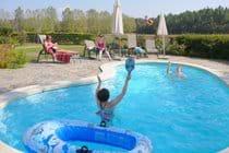 October Fun In The Pool.