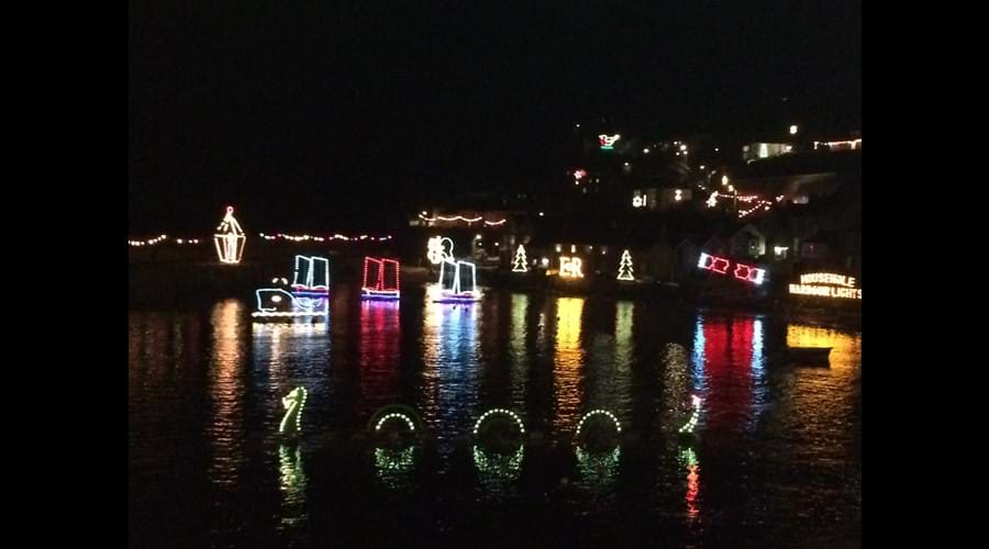 Famous Christmas lights in Mousehole- 1mile away
