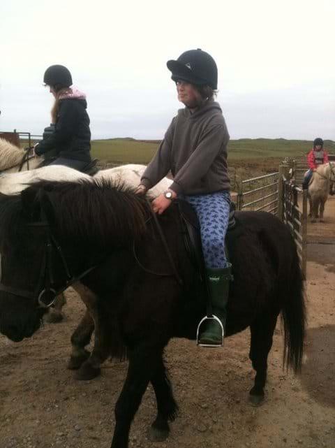 Horse riding at Ballivicar Farm