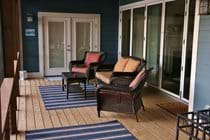 Main floor deck and screen porch