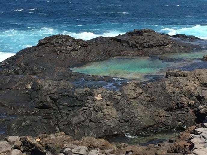 Rock pool from the coastal path
