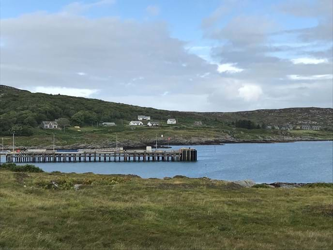 View of Glebe from the pier (second house from the left)