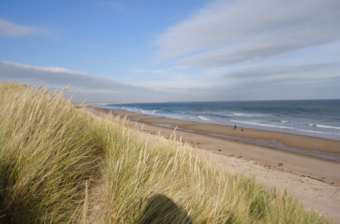 The spectacular beach at Druridge Bay is literally on the doorstep. Often there