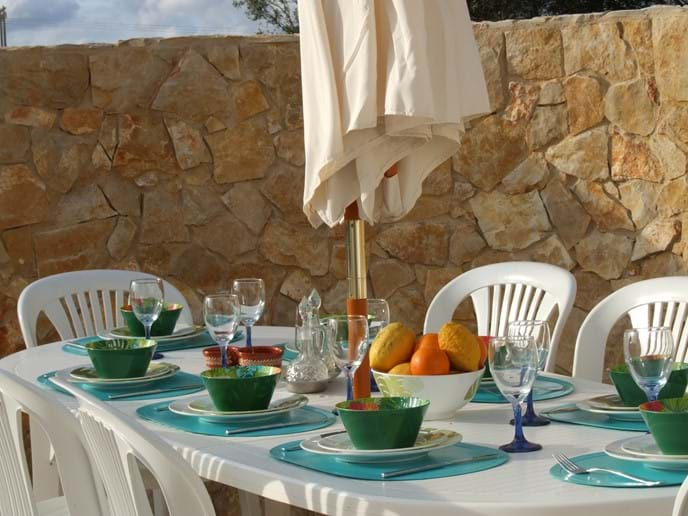 Breakfast Dining Terrace overlooking the pool